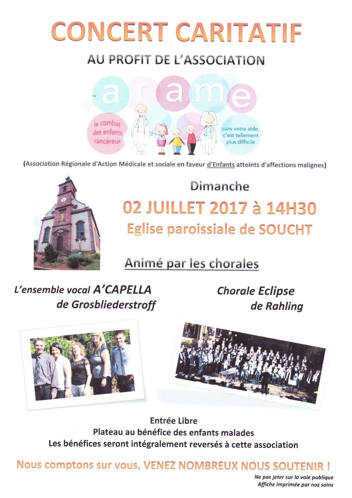 Concert à SOUCHT le 2 juillet 2017