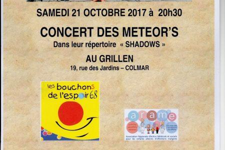 Concert des Meteor's au profit de l'ARAME – 21 octobre 2017