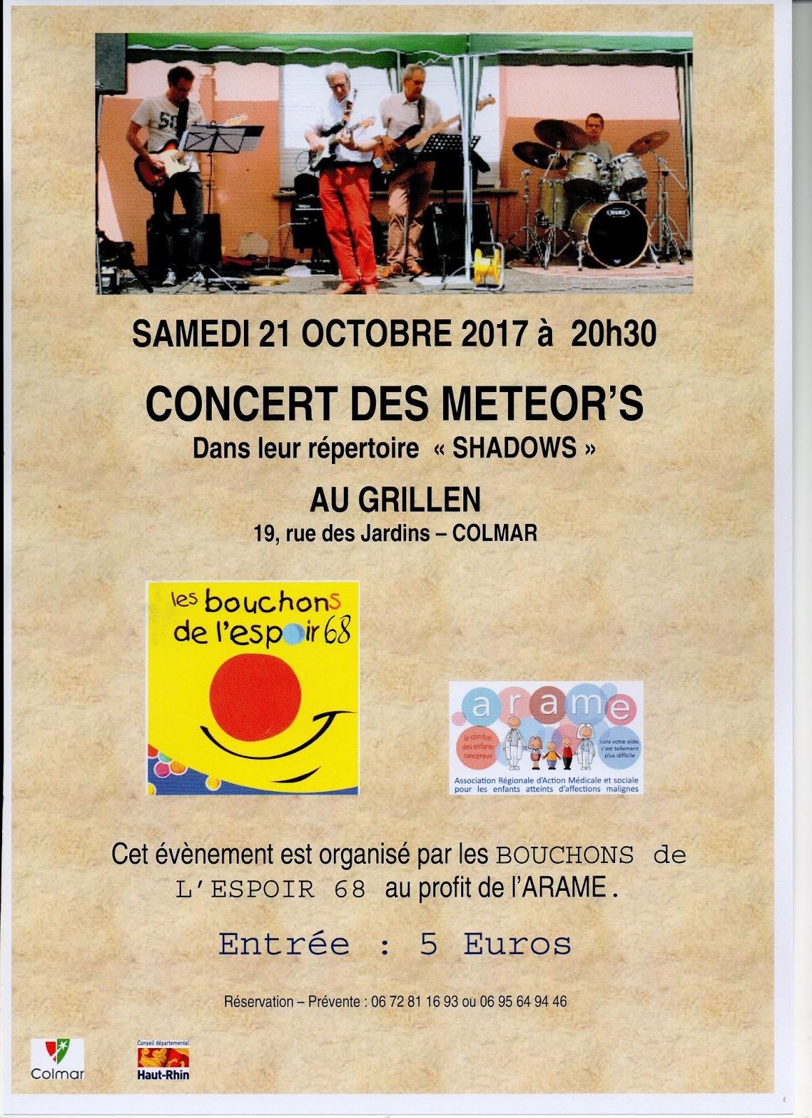 Affiche de concert des METEOR'S