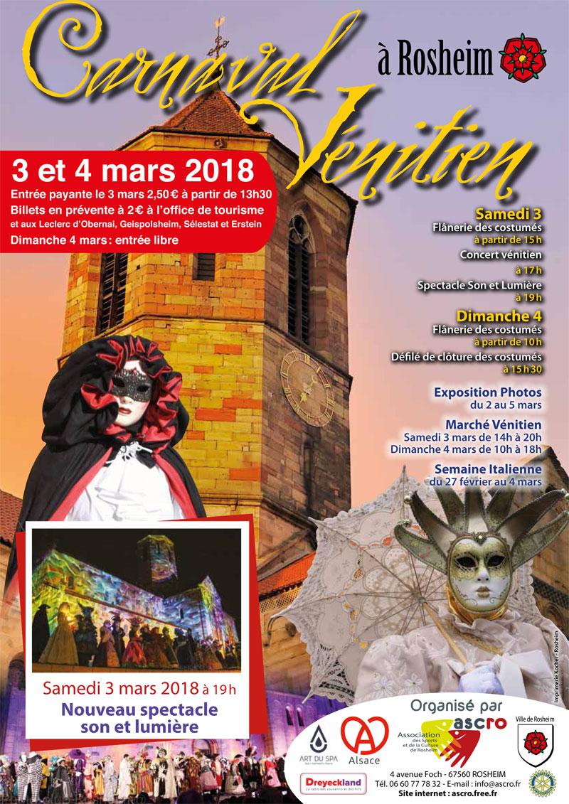 Carnaval Vénitien 2018 de Rosheim
