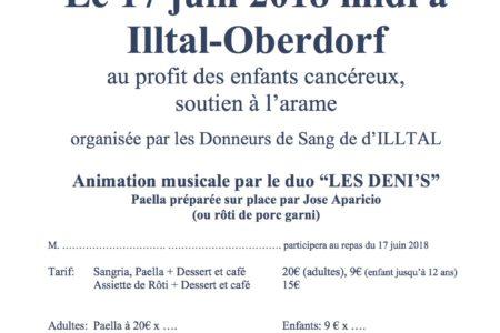 Paella d'été au profit de l'ARAME – 17 juin à Illtal-Oberdorf