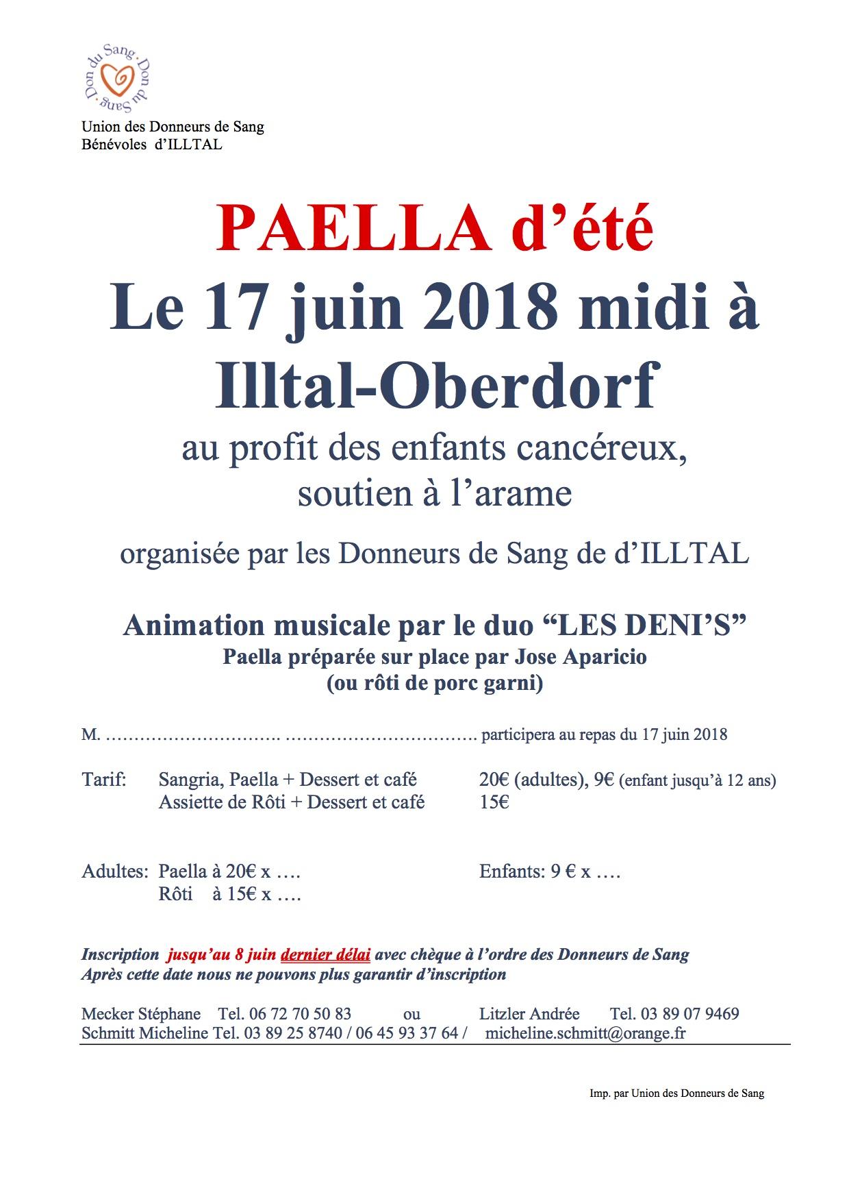Paella d'été à Illtal-Oberdorf