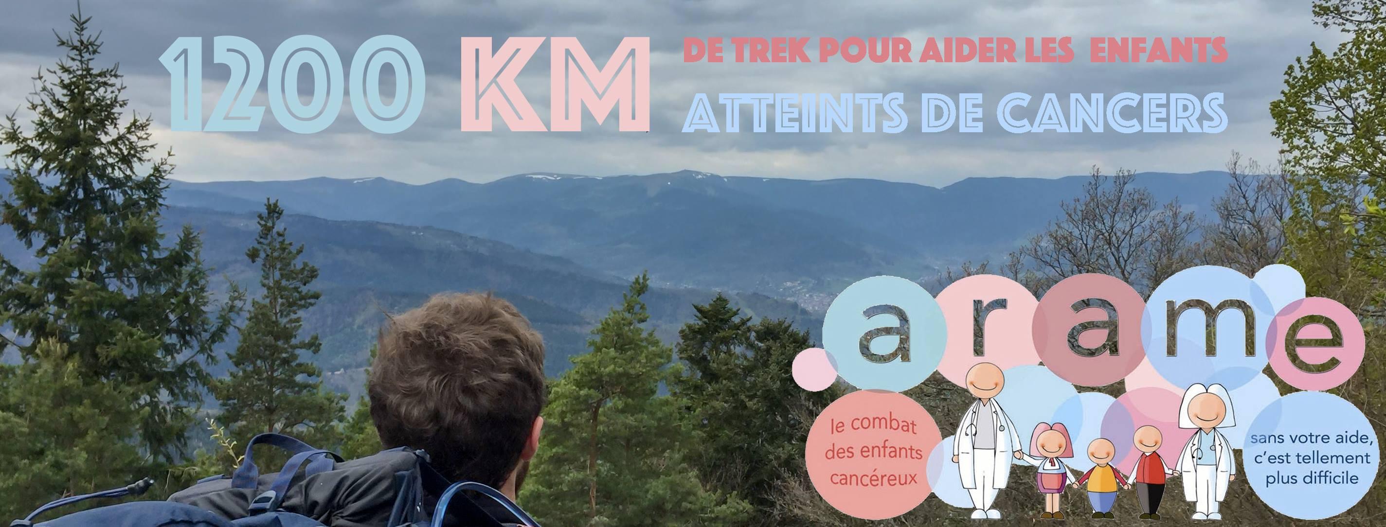 1200 km de trek pour aider les enfants atteints de cancer