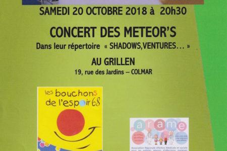 Concert des METEOR'S à Colmar au profit de l'Arame