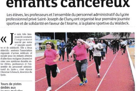 1ère journée sportive et de solidarité pour le Lycée Saint-Joseph de Cluny
