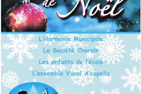 Concert de Noël le 16 décembre 2018 à Grosbliederstroff