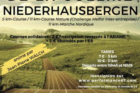 Les courses de la colline – 6ème édition – 4 mai 2019 à Niederhausbergen