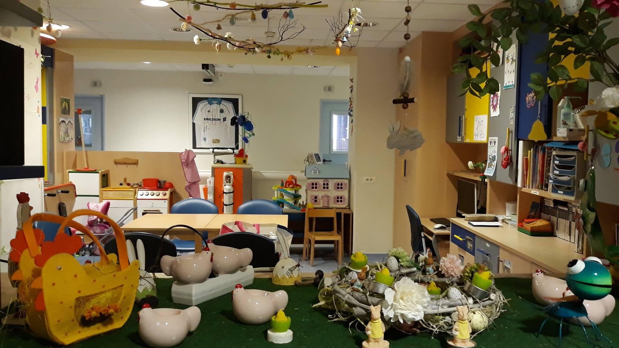 Décorations de Pâques à l'hôpital