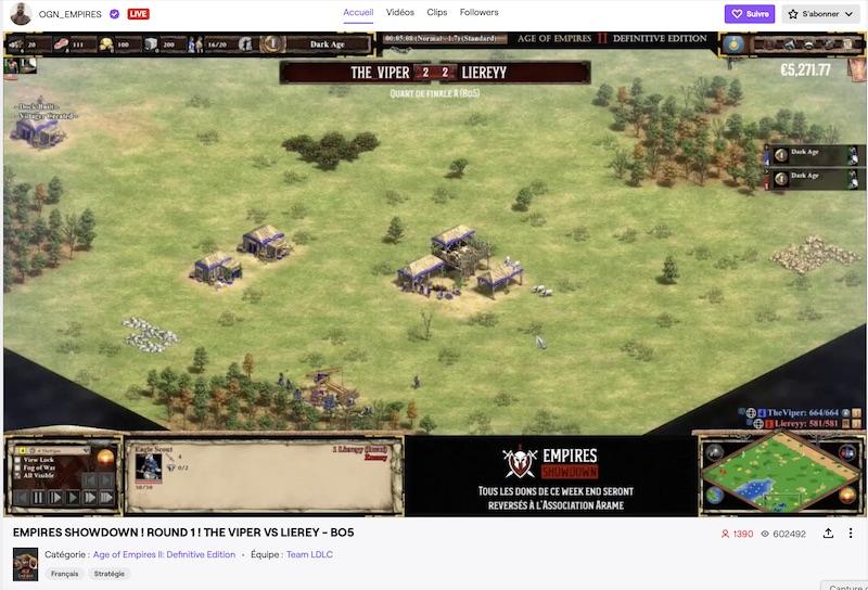 OGN Tournoi caritatif de jeu en ligne