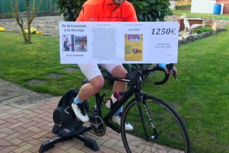 Challenge sportif caritatif – De la Leucémie à la Norvège – 1250€ pour l'ARAME