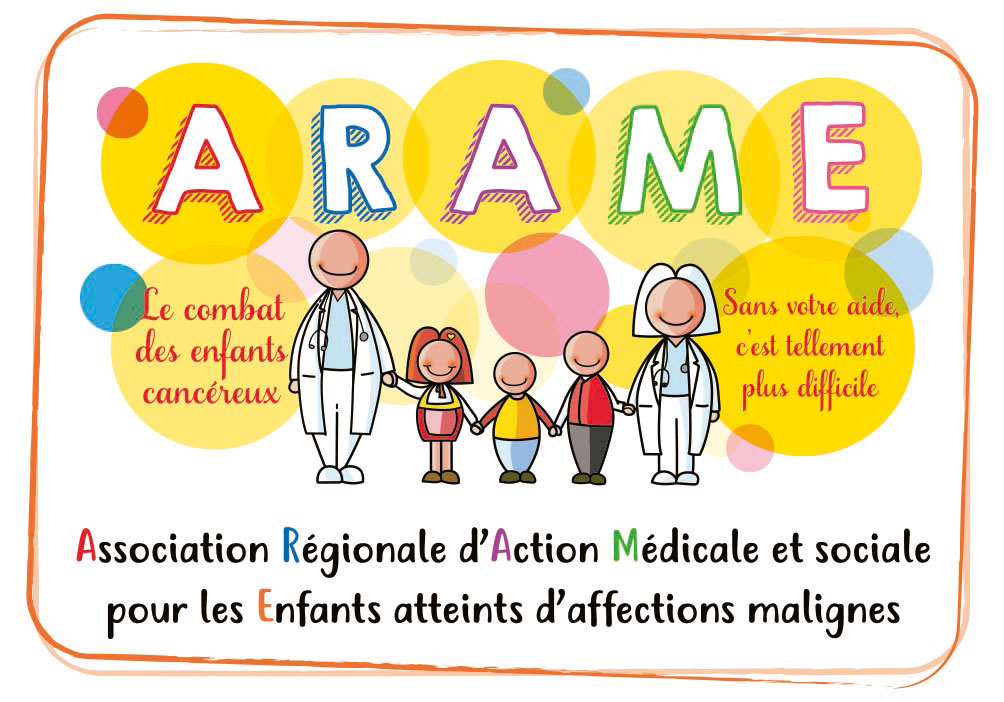 Logo de l'Association ARAME - Agir contre le cancer des enfants