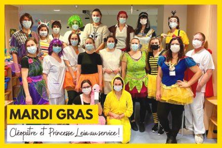 Un Mardi gras exceptionnel à l'hôpital de Hautepierre !