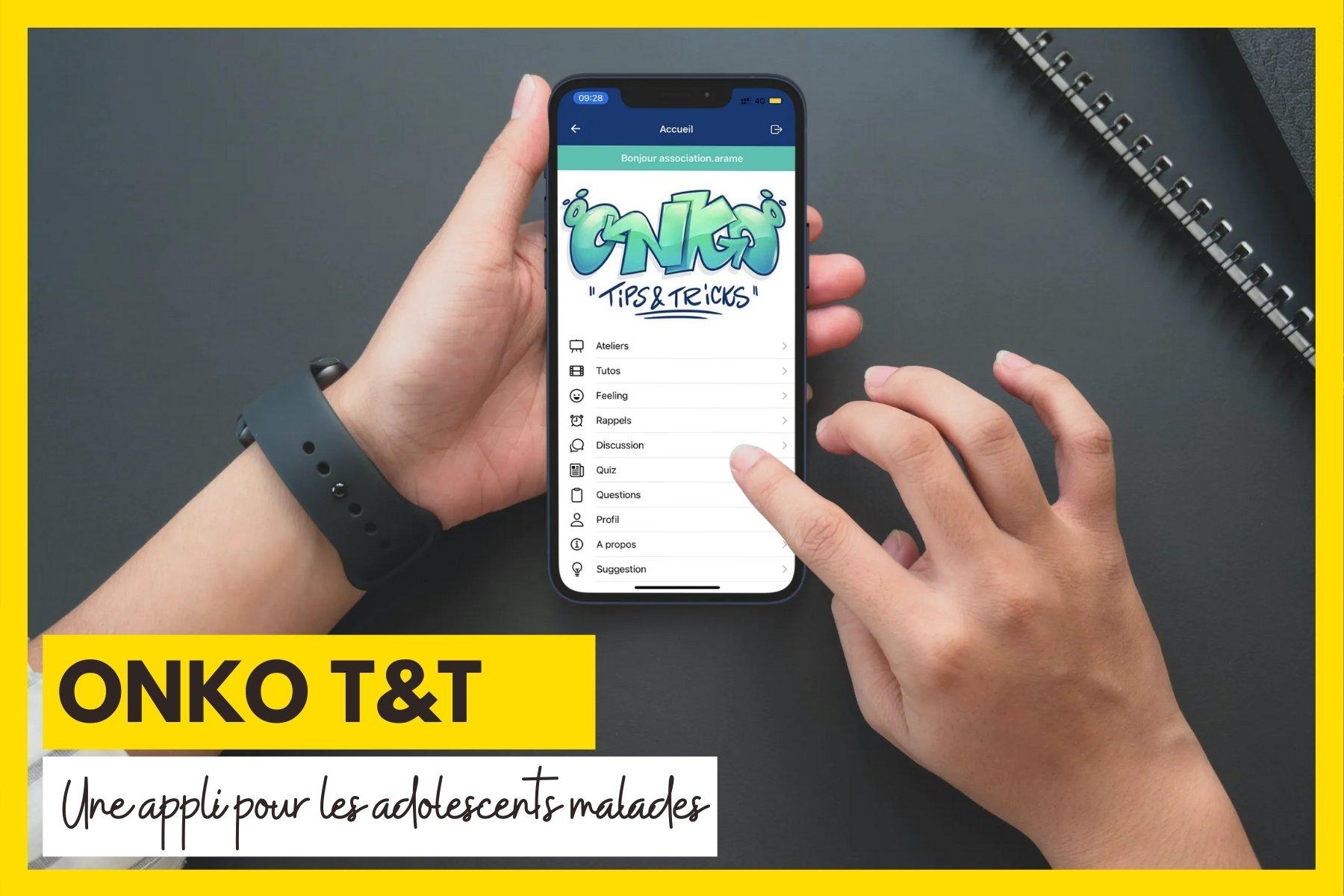 L'association ARAME subventionne l'application mobile ONKO Tips and Tricks