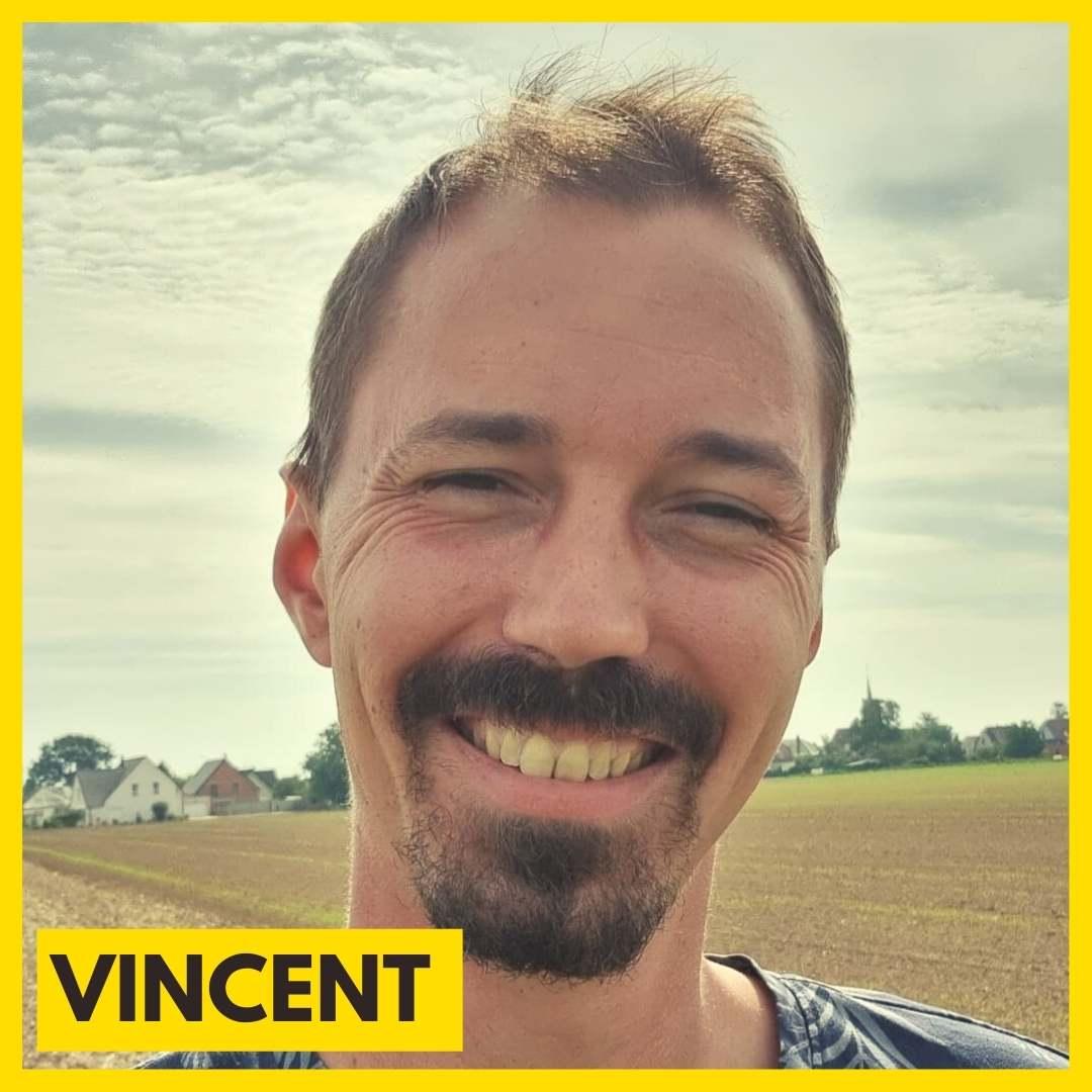 Vincent Cousinard est bénévole pour l'association ARAME